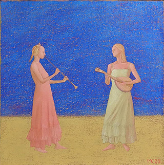 Mikołaj Kasprzyk : Duo I : Oil on Canvas