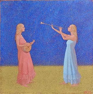 Mikołaj Kasprzyk : Duo II : Oil on Canvas