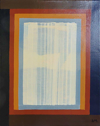Łukasz Majcherowicz : Curtain : Mixed media on canvas