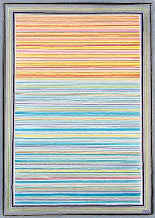 Łukasz Majcherowicz : Postcard : Oil-resin technique on canvas