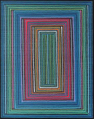 Łukasz Majcherowicz : The Portal of 34 Gates : Oil-resin technique on canvas