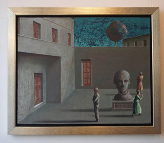 Łukasz Huculak : Postument : Oil on Canvas