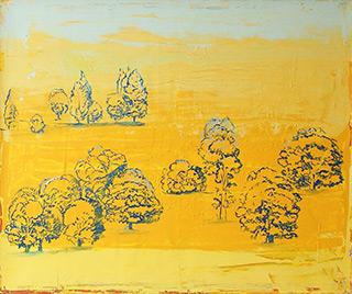 Jacek Łydżba : Golden landscapes : Oil on Canvas