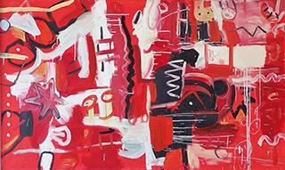 Kalina Horoń : Event on the wall : Acrylic on canvas