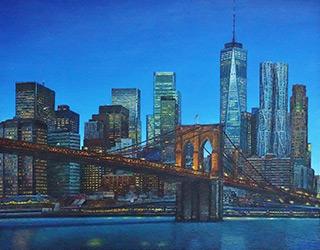 Adam Patrzyk : Brooklyn Bridge : Oil on Canvas