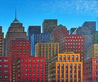 Adam Patrzyk : Citi : Oil on Canvas