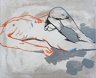 Agnieszka Sandomierz : Origin of the world : Tempera on canvas