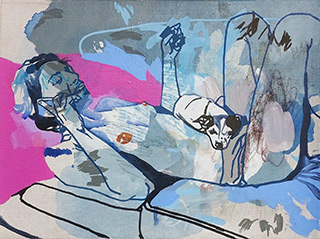 Agnieszka Sandomierz : Talk to me more : Tempera on canvas