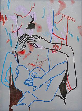 Agnieszka Sandomierz : Turned : Tempera on canvas