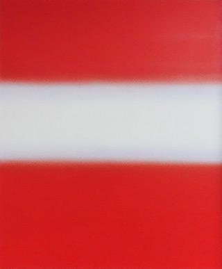 Anna Podlewska : Lane of white on red : Oil on Canvas
