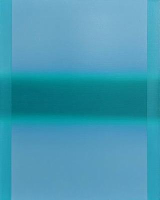 Anna Podlewska - Turquoise on blue