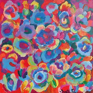 Beata Murawska : Anemones : Oil on Canvas