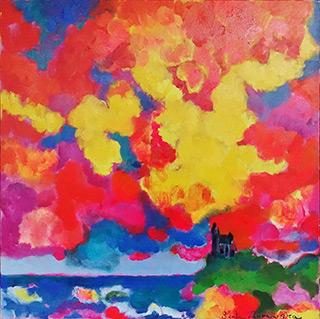 Beata Murawska : Castello : Oil on Canvas
