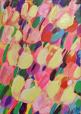 Beata Murawska : Pink day : Oil on Canvas