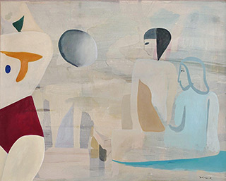 Jacek Cyganek : Me her and the others : Tempera on canvas