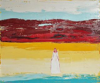 Jacek Łydżba : Woman on the seashore : Oil on Canvas