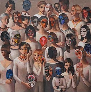 Katarzyna Karpowicz : Are you happy? : Oil on Canvas