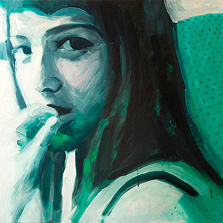 Katarzyna Swinarska : Green dress : Oil on Canvas