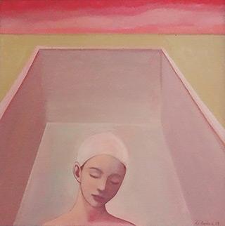 Katarzyna Karpowicz : Dream about empty pool : Oil on Canvas