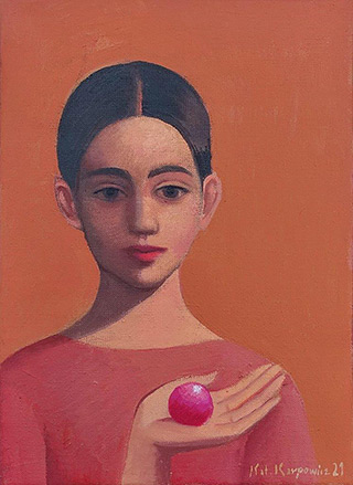 Katarzyna Karpowicz : Pink ball : Oil on Canvas