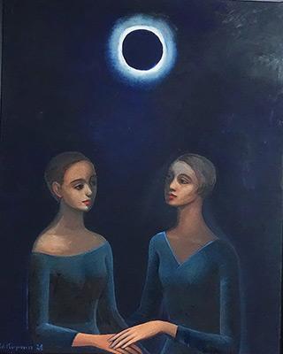 Katarzyna Karpowicz : Sisters : Oil on Canvas