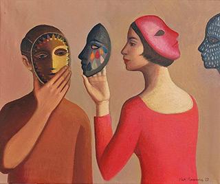 Katarzyna Karpowicz : When I die you better second line : Oil on Canvas