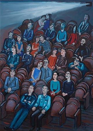 Krzysztof Kokoryn : In the cinema room : Oil on Canvas