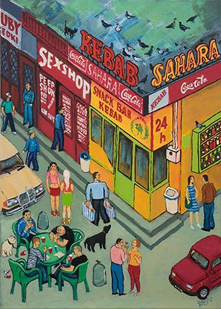 Krzysztof Kokoryn : Kebab Sahara : Oil on Canvas