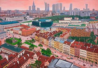 Krzysztof Kokoryn : Over Krakowskie Przedmieście : Oil on Canvas