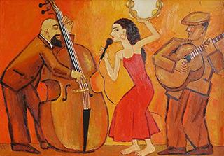 Krzysztof Kokoryn : Trio : Oil on Canvas