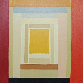 Łukasz Majcherowicz : Atrium : Acrylic on canvas