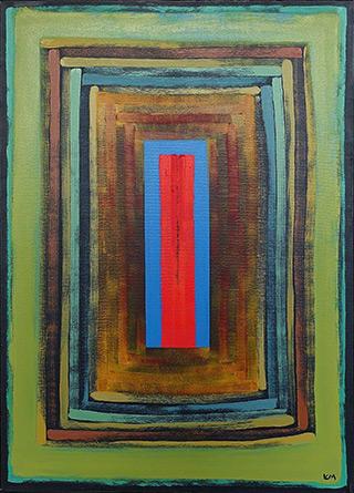 Łukasz Majcherowicz : Gap of the world : Tempera on canvas