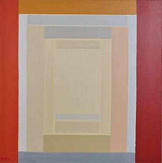 Łukasz Majcherowicz : White atrium : Acrylic on canvas
