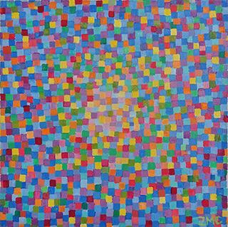 Zofia Matuszczyk-Cygańska : Cornflowers : Oil on Canvas