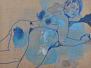 Agnieszka Sandomierz : What are we like : Tempera on canvas