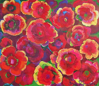 Beata Murawska : Flowers without limit : Oil on Canvas