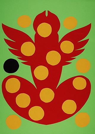 Daniel Zarewicz : Winged Eros : Paper cutout