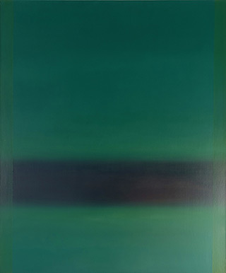 Anna Podlewska : Green with an element of black : Oil on Canvas