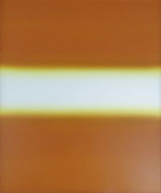 Anna Podlewska : White on beige : Oil on Canvas