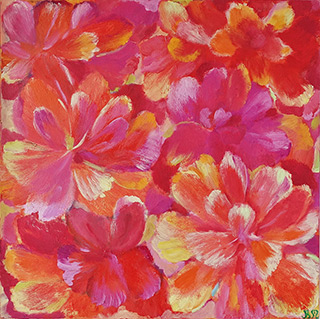 Beata Murawska - Blooming joy Orange / Pink