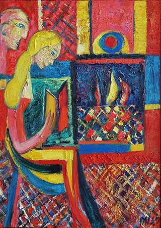 Darek Pala - Book fireplace and Aladdin