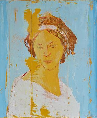 Jacek Łydżba : Face from Pompeii I : Oil on Canvas
