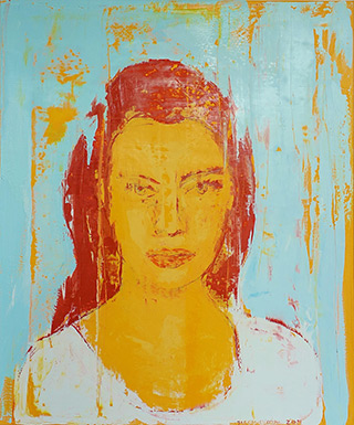 Jacek Łydżba : Face from Pompeii II : Oil on Canvas