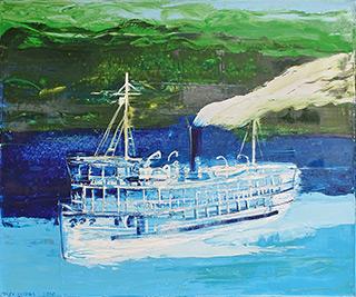Jacek Łydżba : Fitzcarrald's steamboat : Oil on Canvas