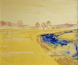 Jacek Łydżba : Golden landscape : Oil on Canvas