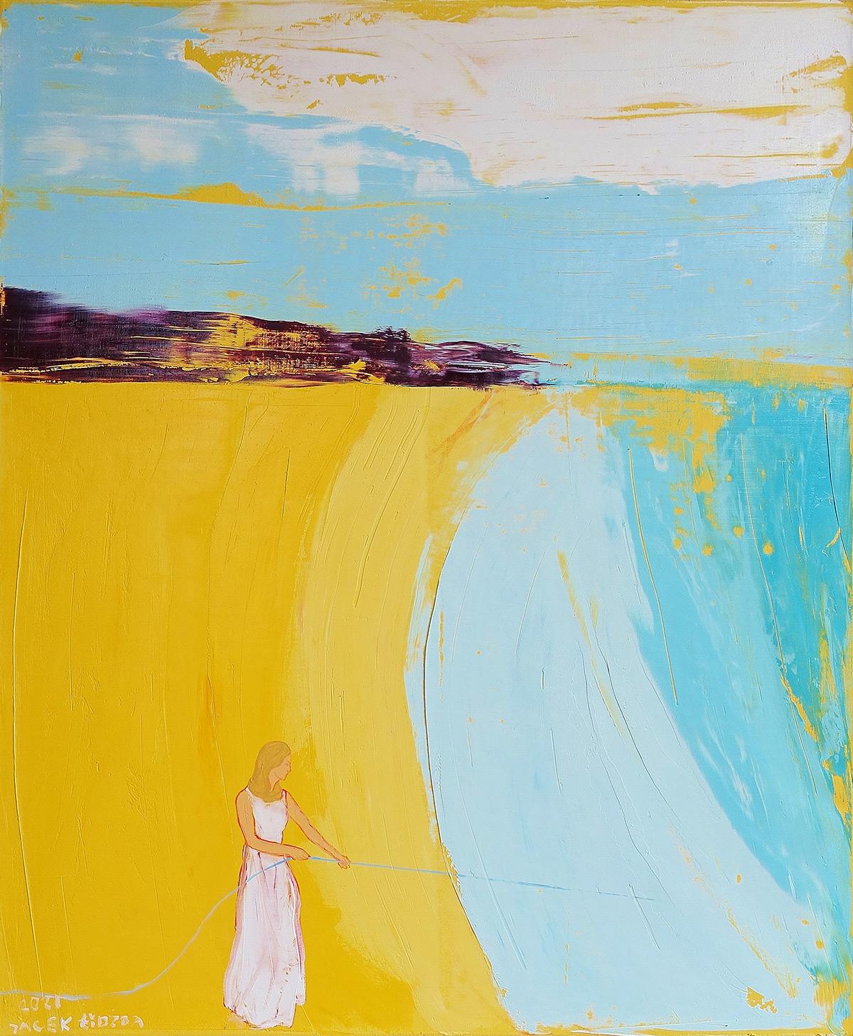Jacek Łydżba : Lonely woman and vertical horizon