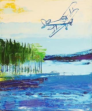 Jacek Łydżba - Plane over the lake