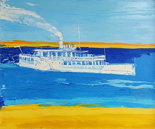 Jacek Łydżba - Steamboat on the river