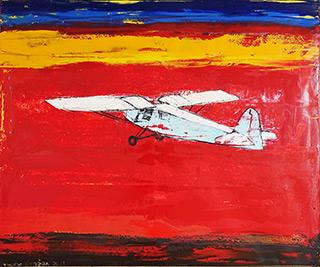 Jacek Łydżba : Sunset flight : Oil on Canvas