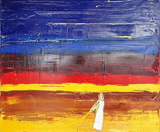 Jacek Łydżba : The sheltering sky : Oil on Canvas